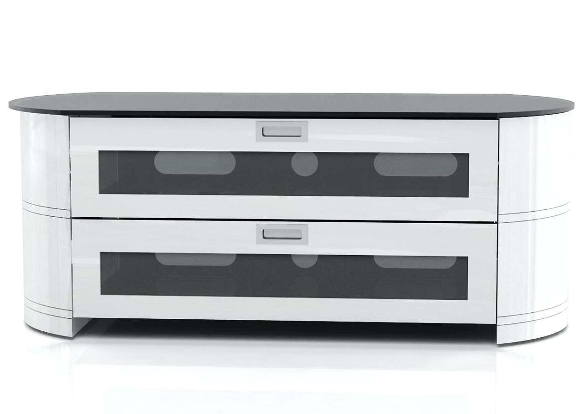 Articles With Black And White Gloss Tv Stand Tag: White Glass Tv Throughout White Gloss Oval Tv Stands (View 1 of 20)