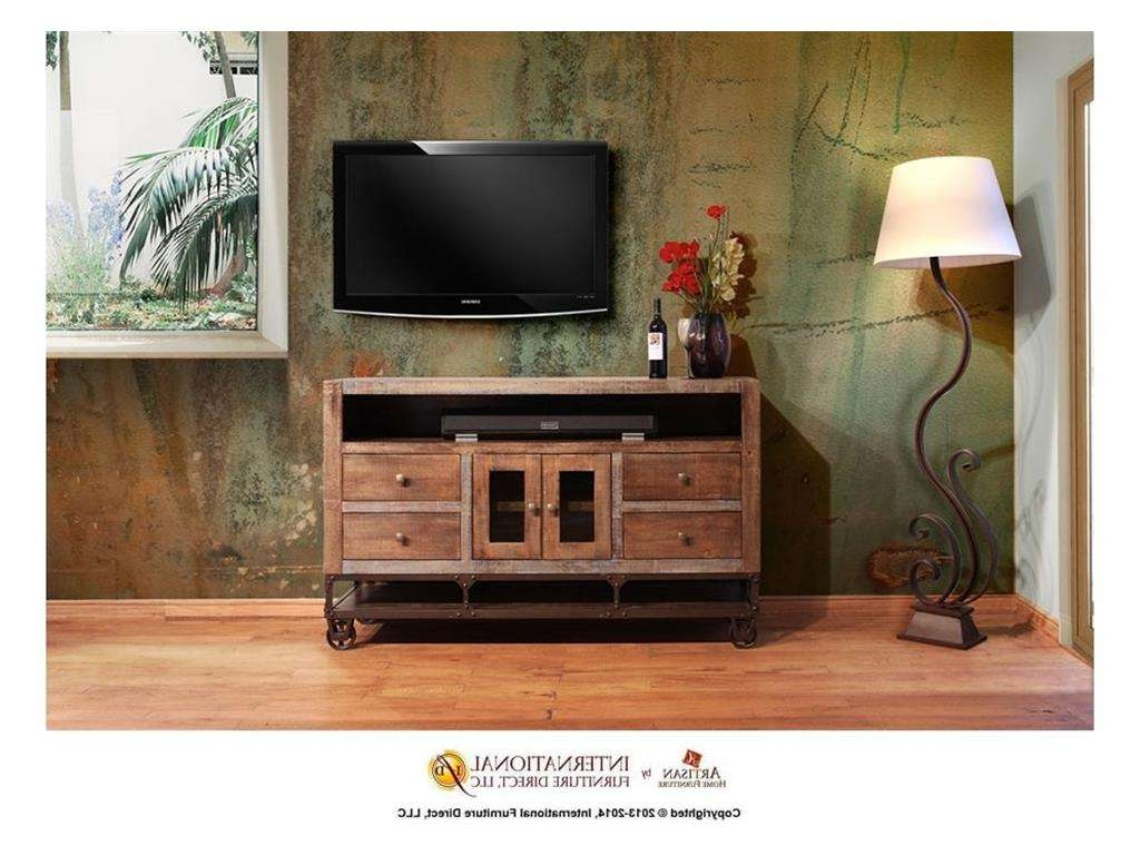 Artisan Home Furnishings Ifd560 Urban Gold Tv Stand | Freed's Fine Within Gold Tv Stands (View 19 of 20)