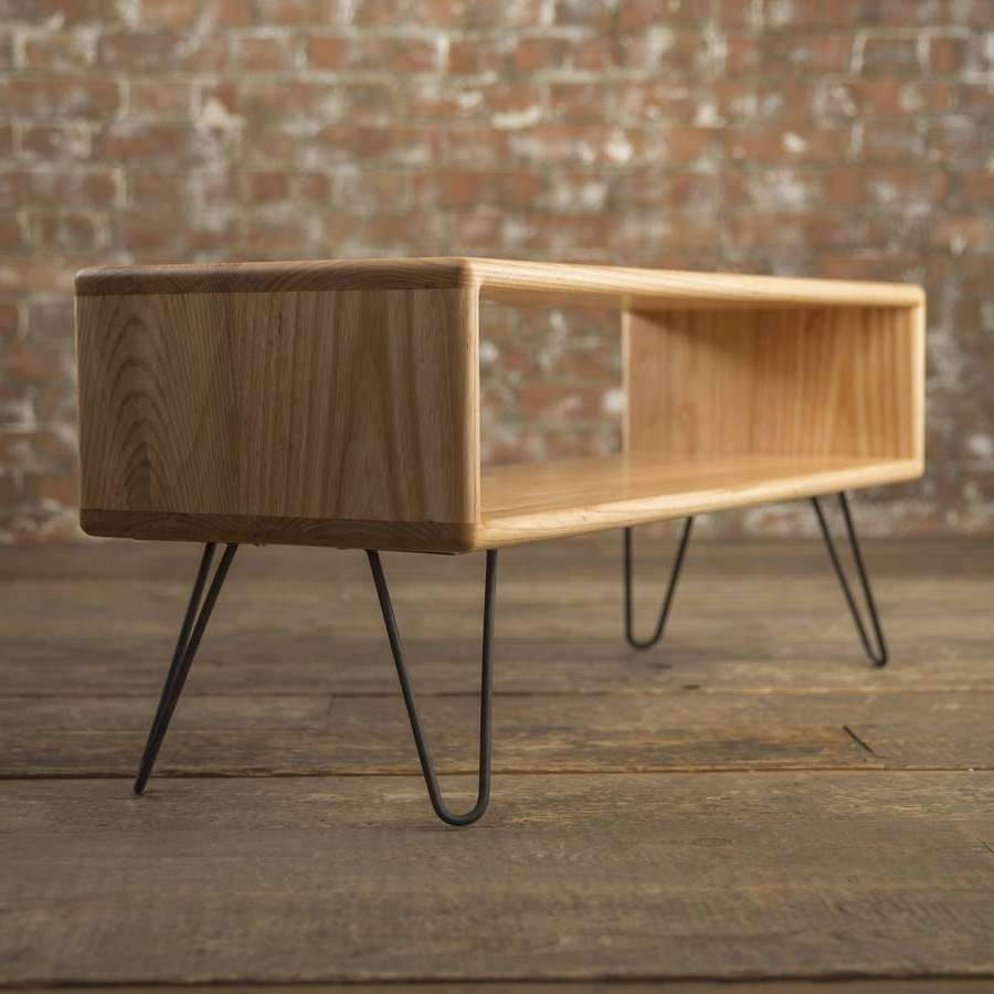 Ash Midcentury Modern Hairpin Leg Tv Standbiggs & Quail Inside Tv Stands 100Cm (View 3 of 15)