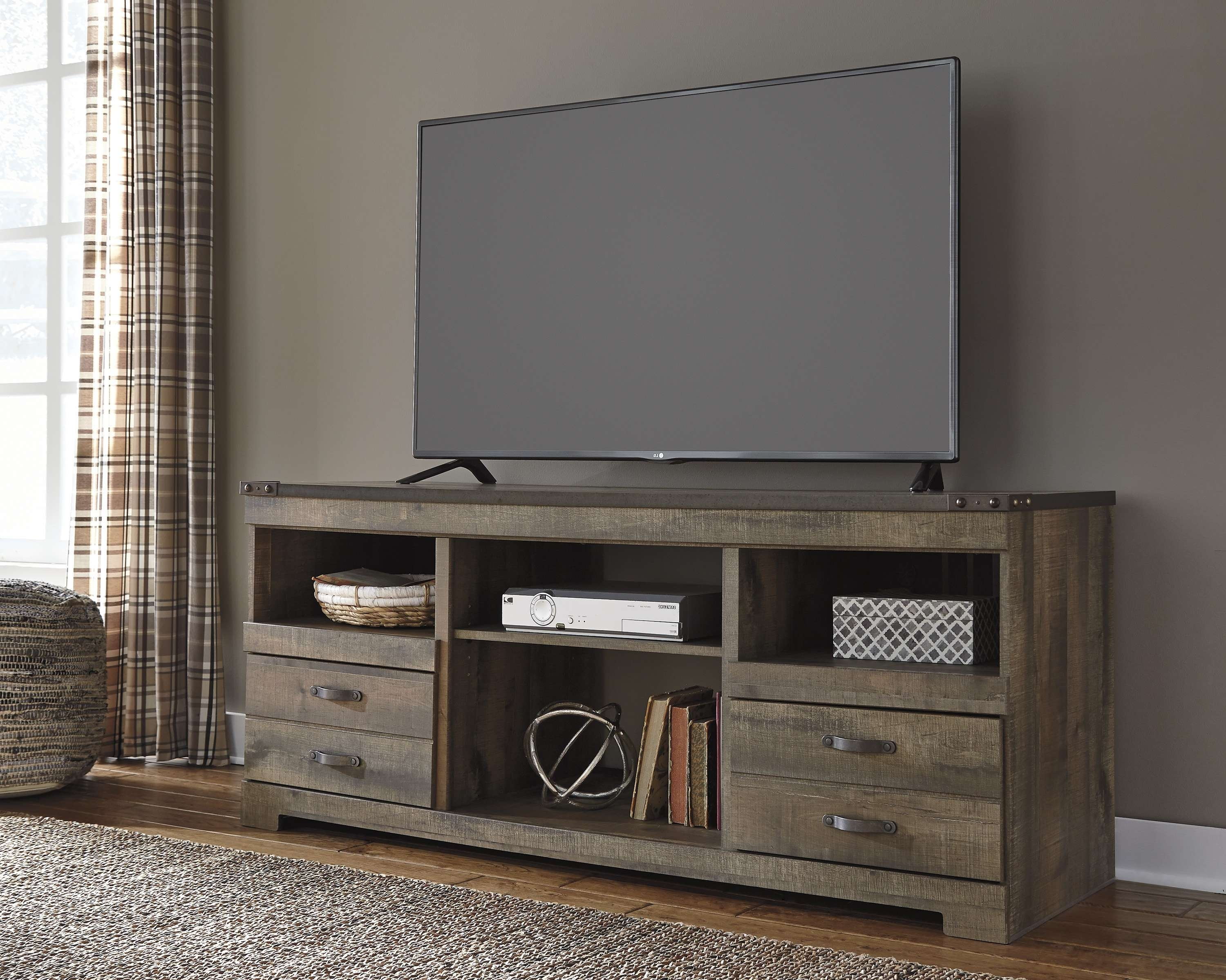 Ashley Furniture Trinell Brown Lg Tv Stand | Entertainment | The Within Brown Tv Stands (View 2 of 20)