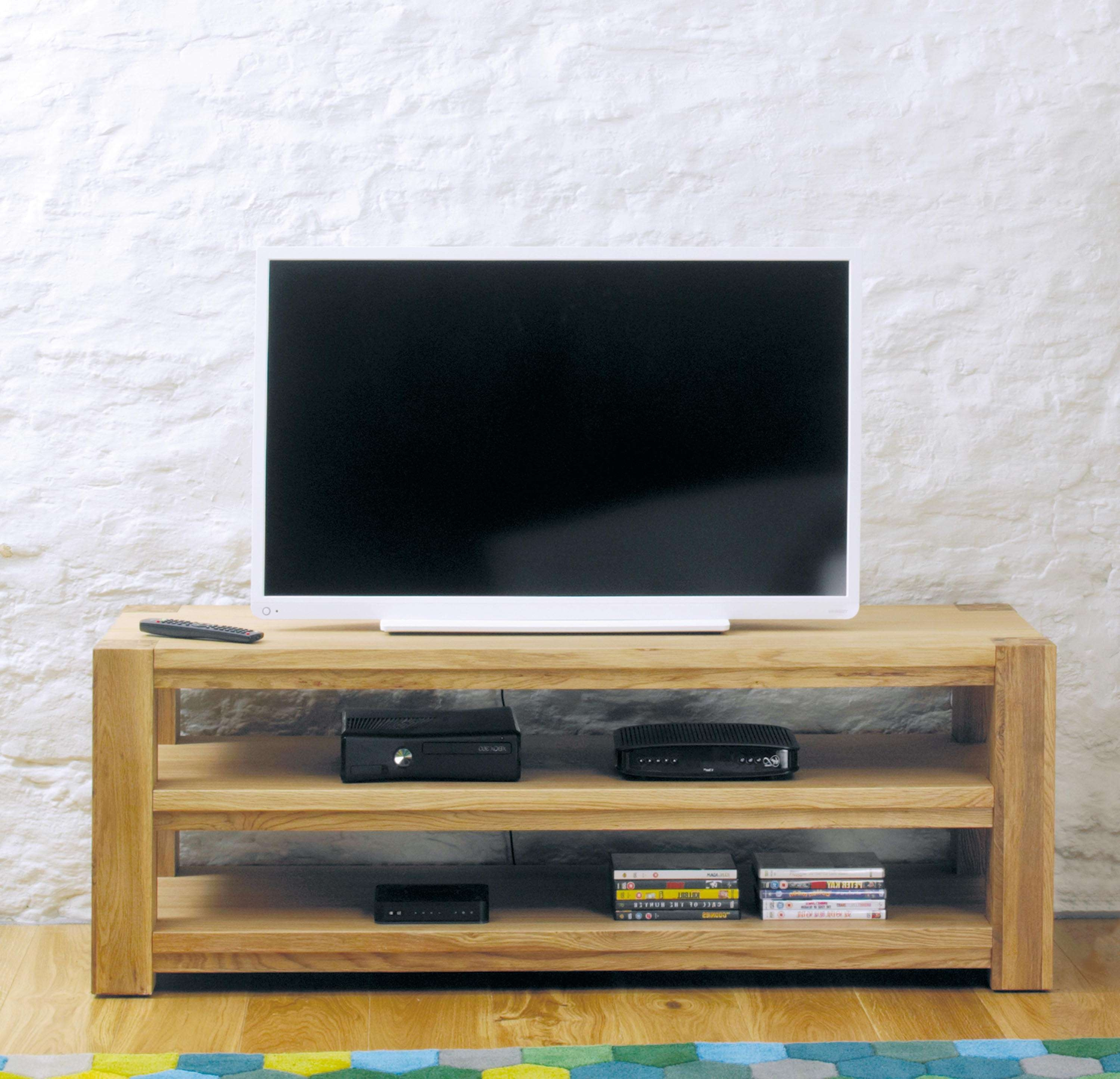 Aston Oak Widescreen Open Television Cabinet (cvr09a) In Wide Screen Tv Stands (View 11 of 15)