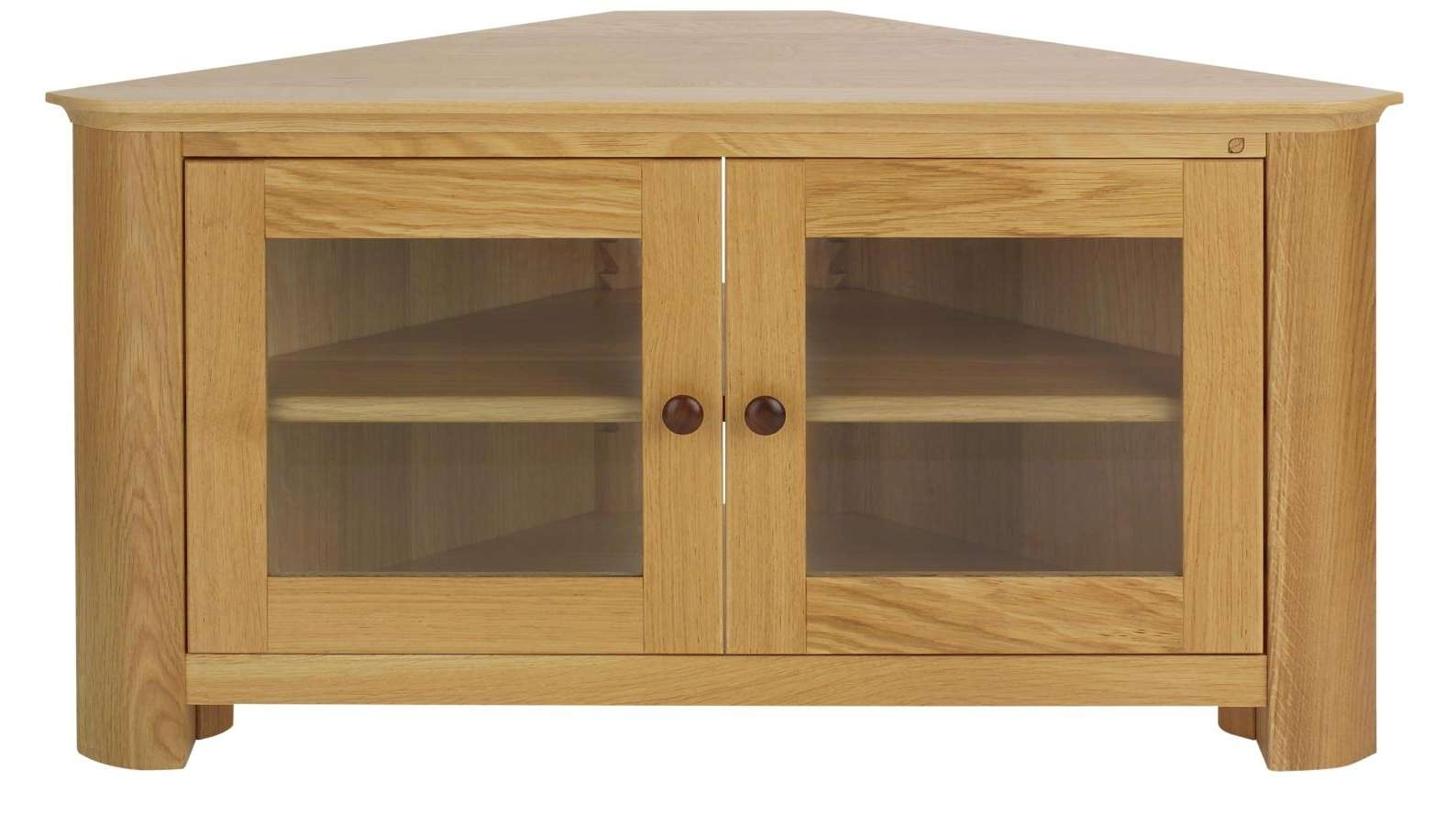 Astounding Solid Wood Corner Tv Stands Flat Screens Tags : Wooden Intended For Oak Effect Corner Tv Stands (View 1 of 15)