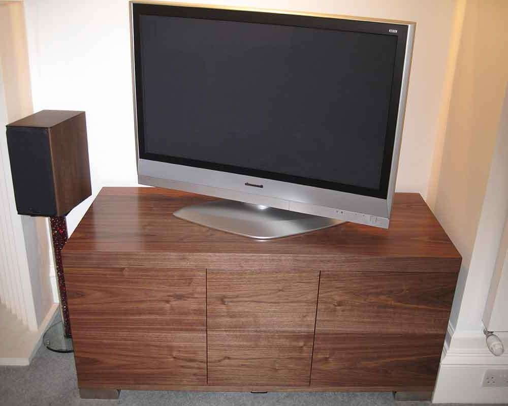 Av Cabinets, Home Cinema Cabinets, Made In The Uk,audinni Inside Walnut Tv Cabinets With Doors (View 1 of 20)