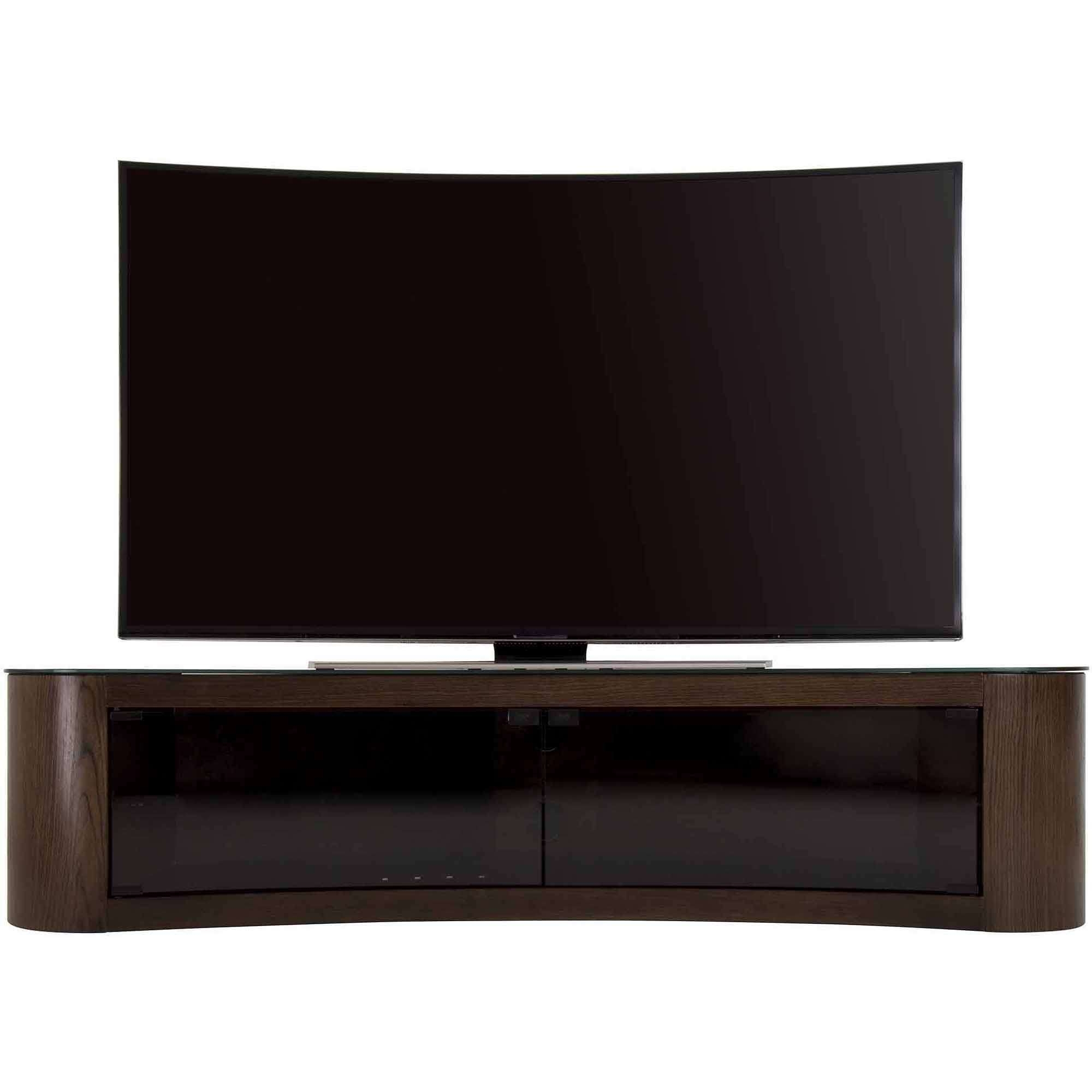 """Avf Bay Curved Tv Stand For Tvs Up To 70"""" – Walmart Regarding Tv Stands For 43 Inch Tv (View 2 of 15)"""