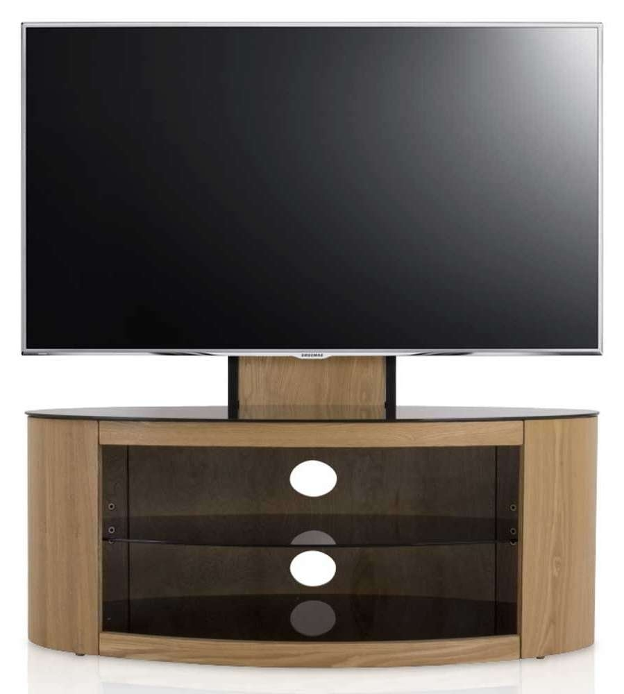 Avf Buckingham Oak Cantilever Tv Stand With Tv Stands Cantilever (View 9 of 15)