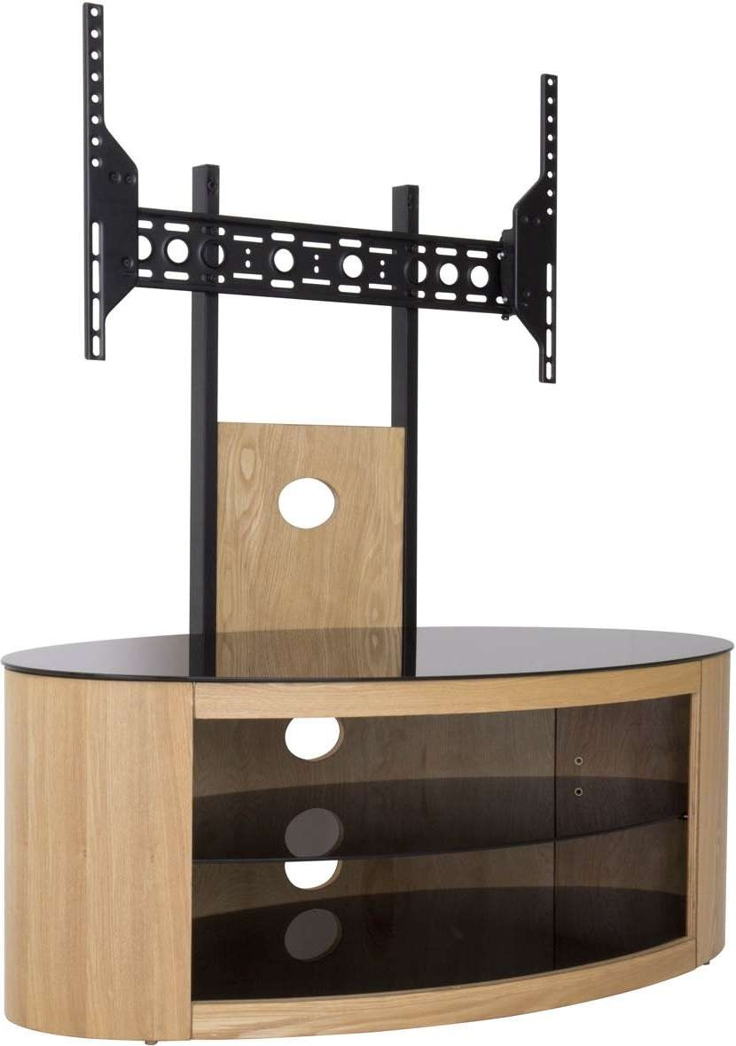 Avf Buckingham Oak Cantilever Tv Stand Within Cantilever Glass Tv Stands (View 7 of 20)