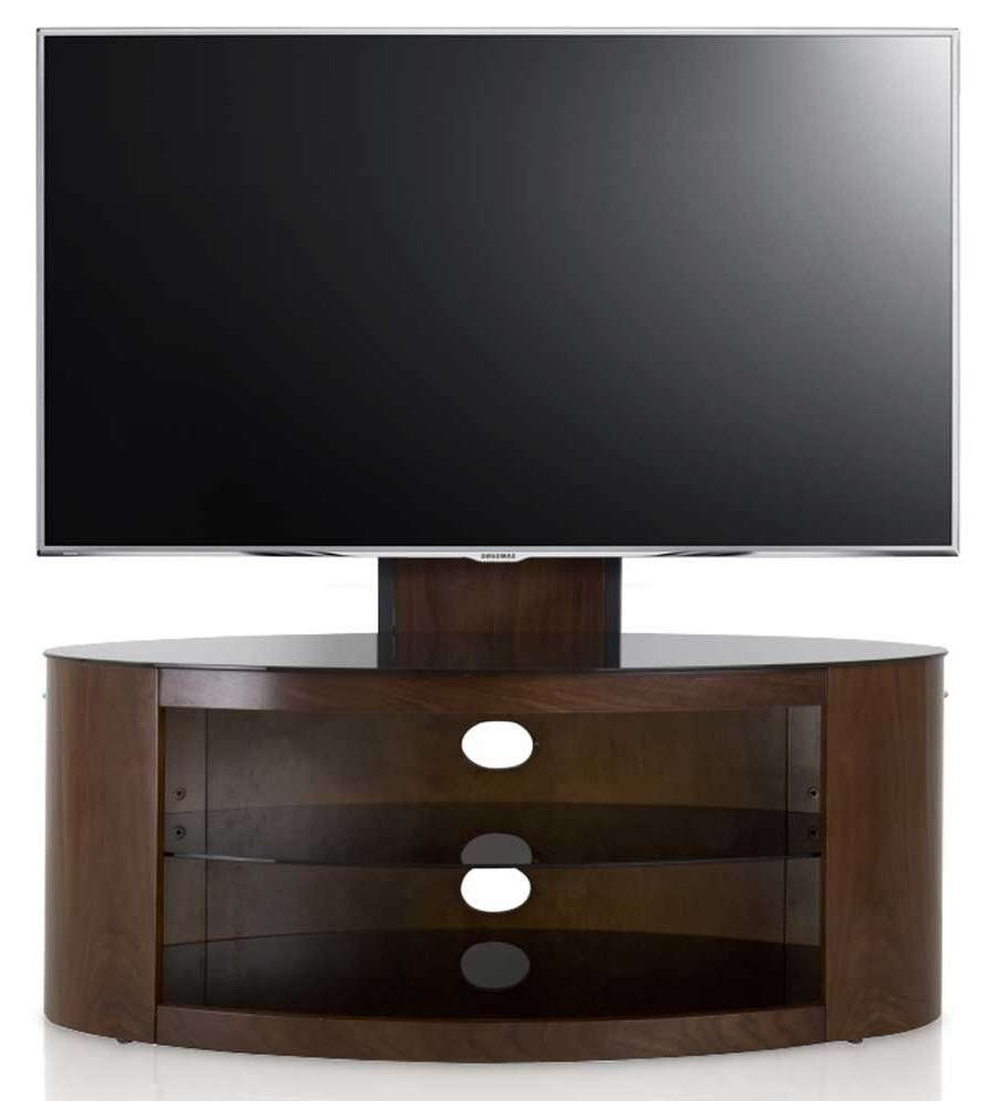 Avf Buckingham Walnut Cantilever Tv Stand In Avf Tv Stands (View 3 of 15)