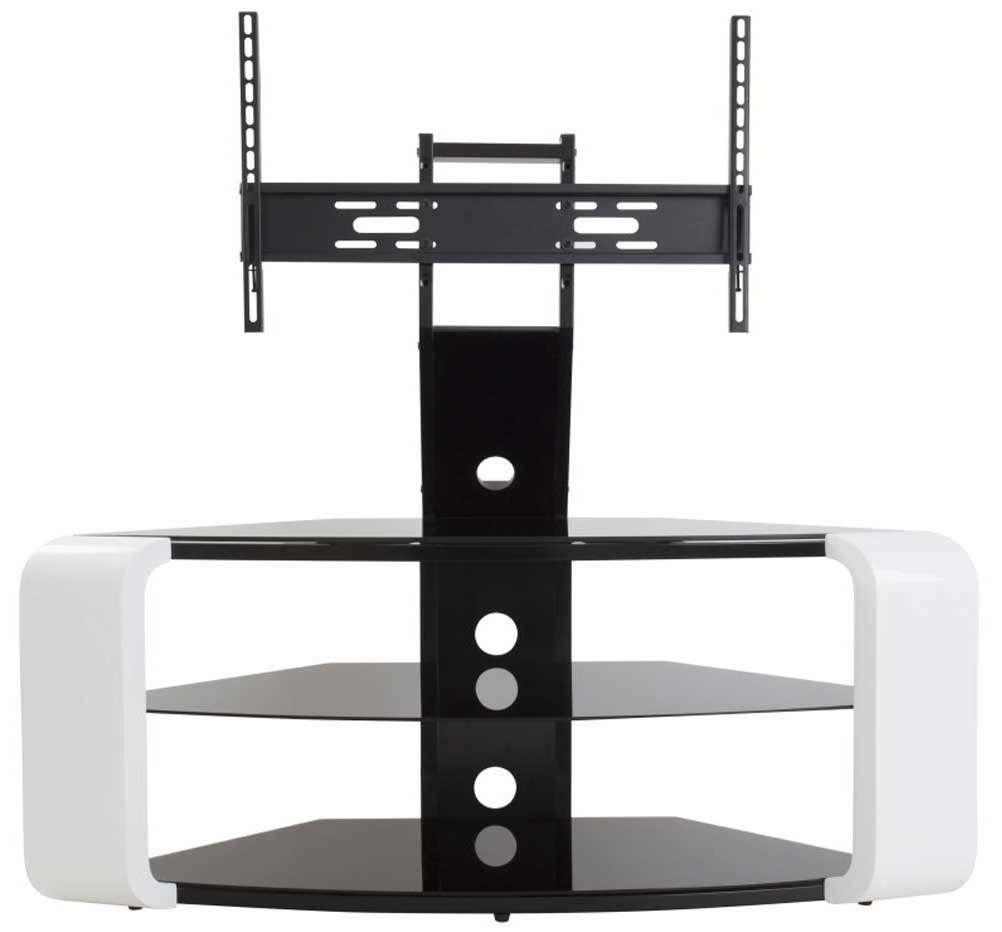 Avf Como Gloss White Cantilever Tv Stand In White Cantilever Tv Stands (View 11 of 20)