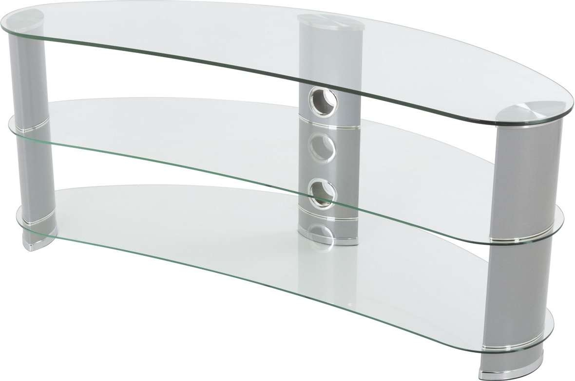 Avf Fs1200Curcs Tv Stands With Regard To Clear Glass Tv Stands (View 3 of 15)