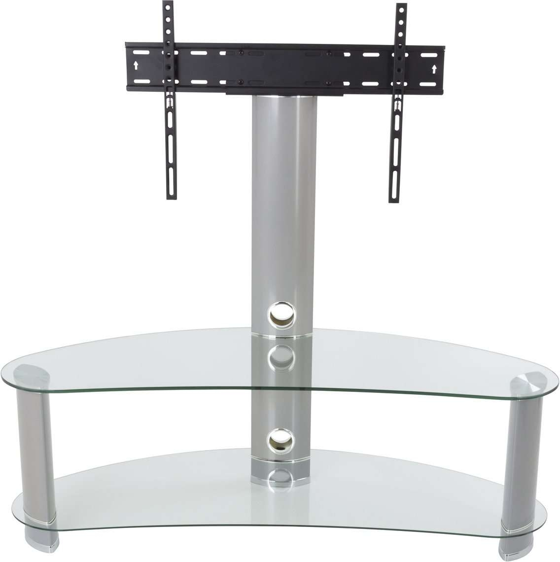 Avf Fsl1200Curcs Tv Stands Within Clear Glass Tv Stands (View 4 of 15)