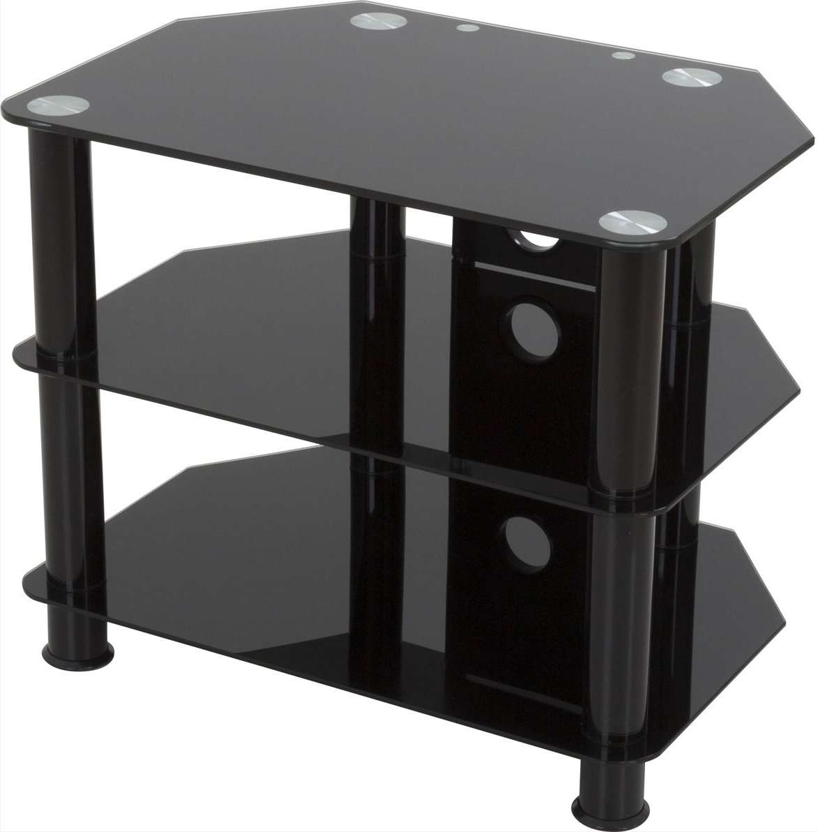 Avf Sdc600Cmbb Tv Stands With Black Glass Tv Stands (View 3 of 15)