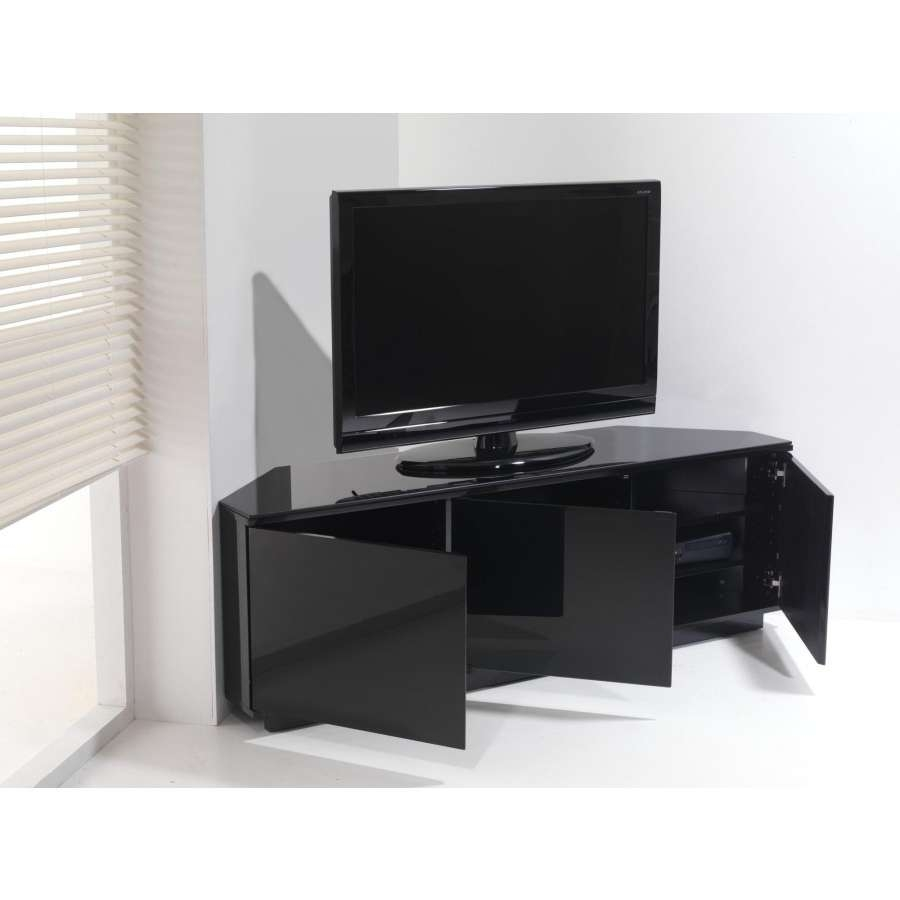 Awesome Black Gloss Corner Tv Stand 13 About Remodel Decor Pertaining To Black Gloss Corner Tv Stands (Gallery 1 of 15)