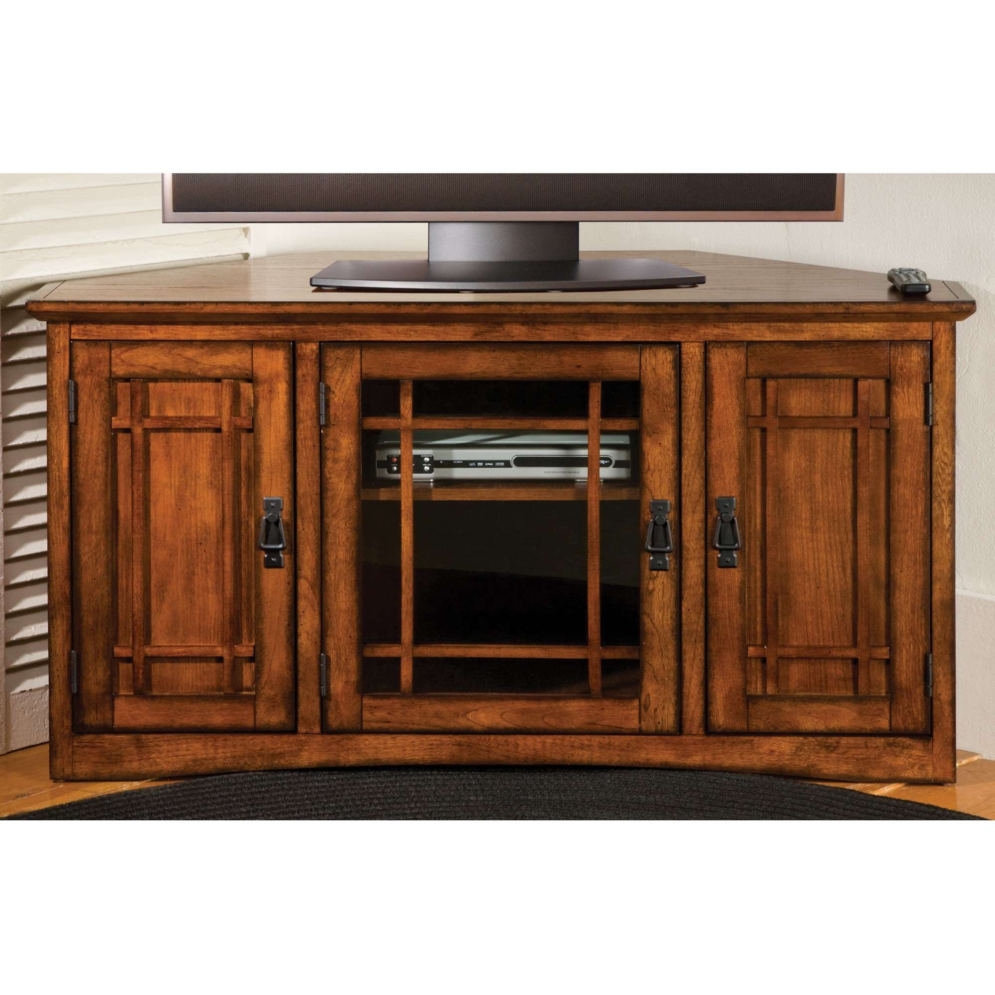 Awesome Corner Tv Cabinet With Doors For Your Lovely Home With Wooden Tv Stands With Glass Doors (View 1 of 15)
