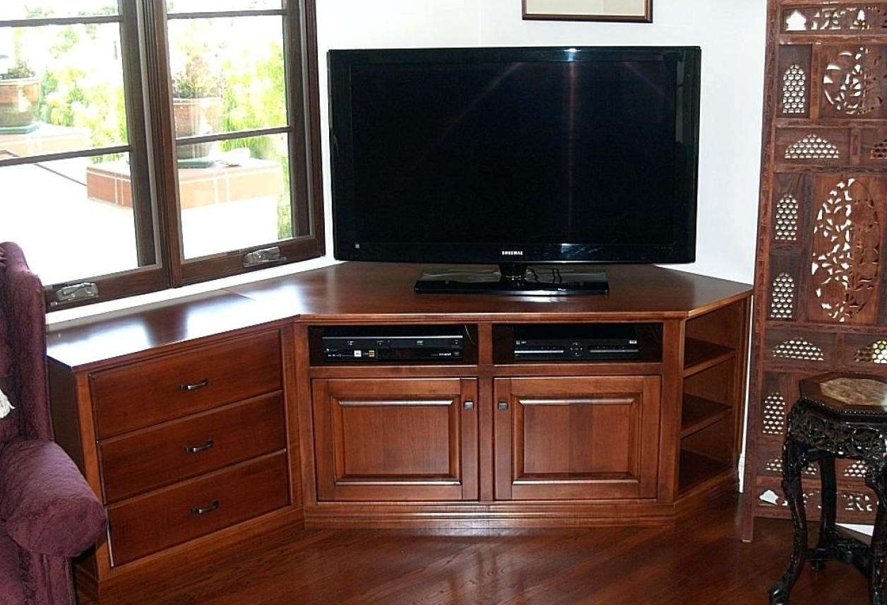 Awesome Oak Corner Tv Stand Canada Tags : Dark Wood Corner Tv Throughout Very Tall Tv Stands (View 12 of 15)