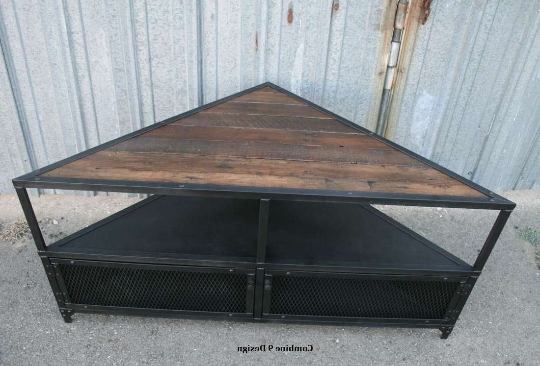 Awesome Unique Corner Tv Stands Including Custom Unittv Stand Intended For Industrial Corner Tv Stands (View 1 of 15)