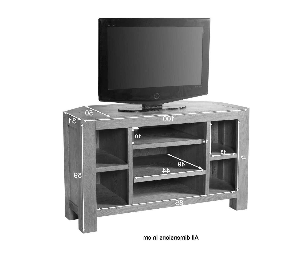 Aylesbury Contemporary Light Oak Corner Tv Unit | Oak Furniture Uk Regarding Light Oak Corner Tv Cabinets (View 3 of 20)