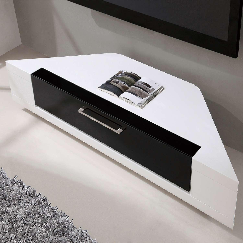 "B Modern Bm 634 Wht Editor Remix 60"" Corner Tv Stand In White High Regarding White High Gloss Corner Tv Stands (View 3 of 20)"