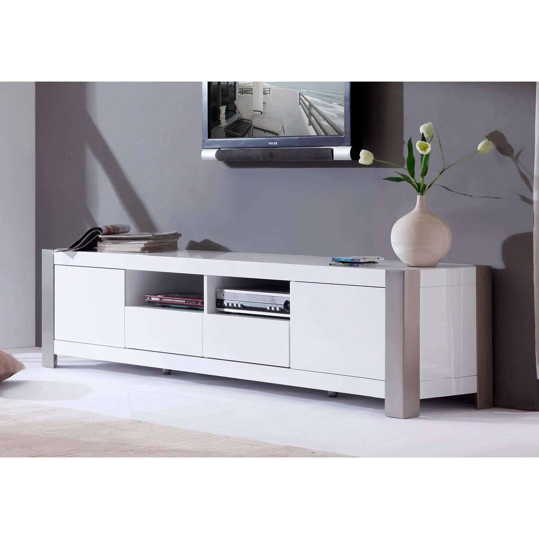 "B Modern Composer 79"" High Gloss White Tv Stand – Bm 100 Wht | The With High Gloss White Tv Stands (View 8 of 15)"