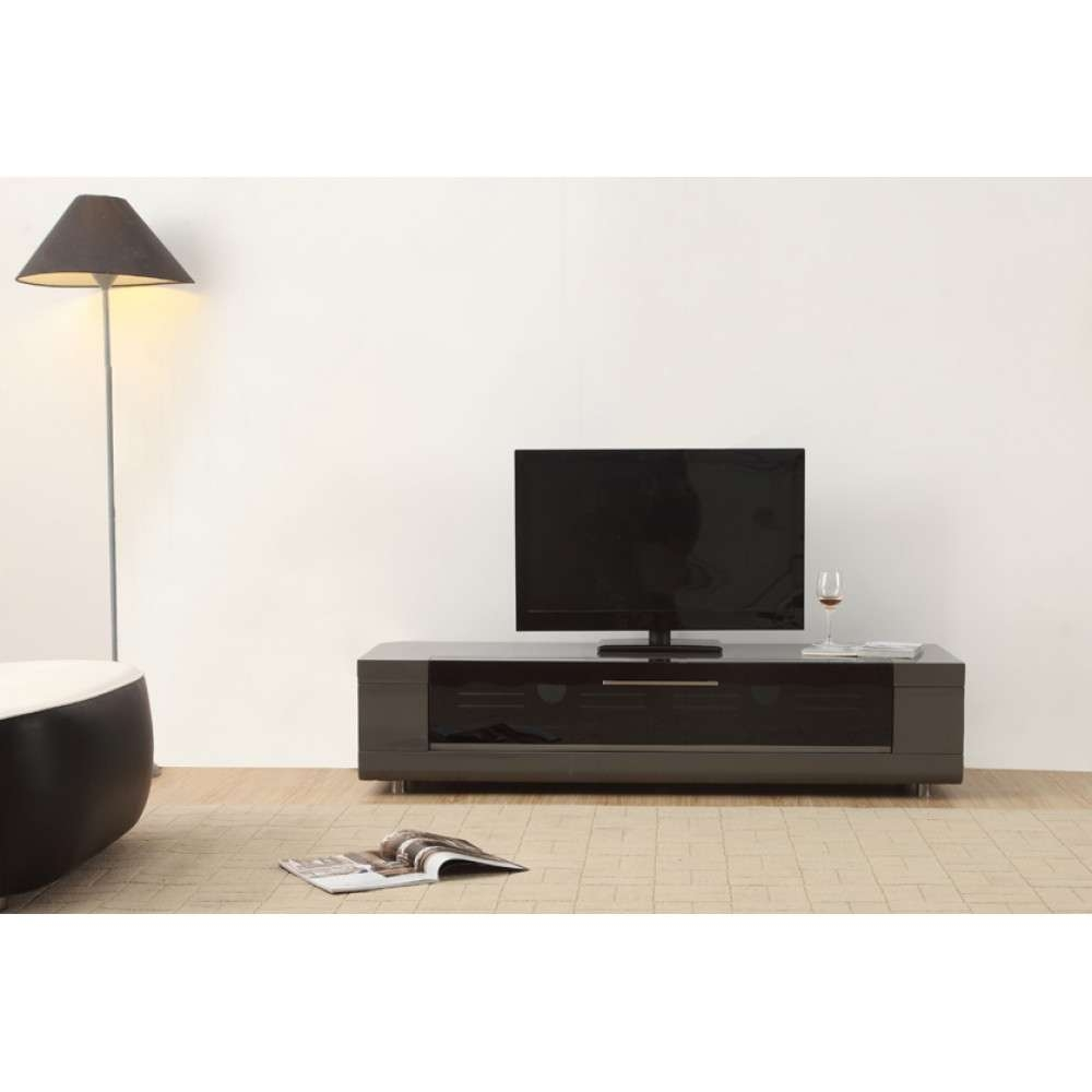 B Modern Editor Remix Mini Tv Stand | Grey High Gloss, B Modern Throughout Grey Tv Stands (View 1 of 15)