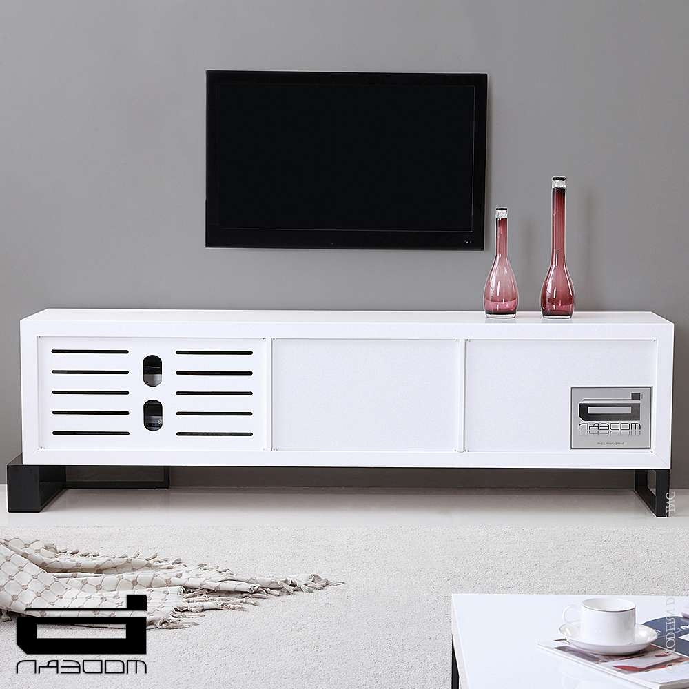 B Modern Entertainer, White & Tv Stands | Metropolitandecor For Tv Stands White (View 2 of 20)