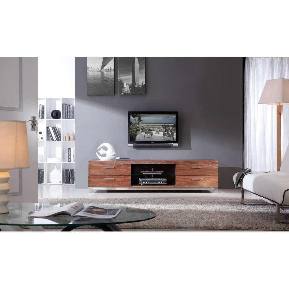 B Modern Promoter Tv Stand | Light Walnut, B Modern – Modern Manhattan Regarding Modern Style Tv Stands (View 6 of 15)