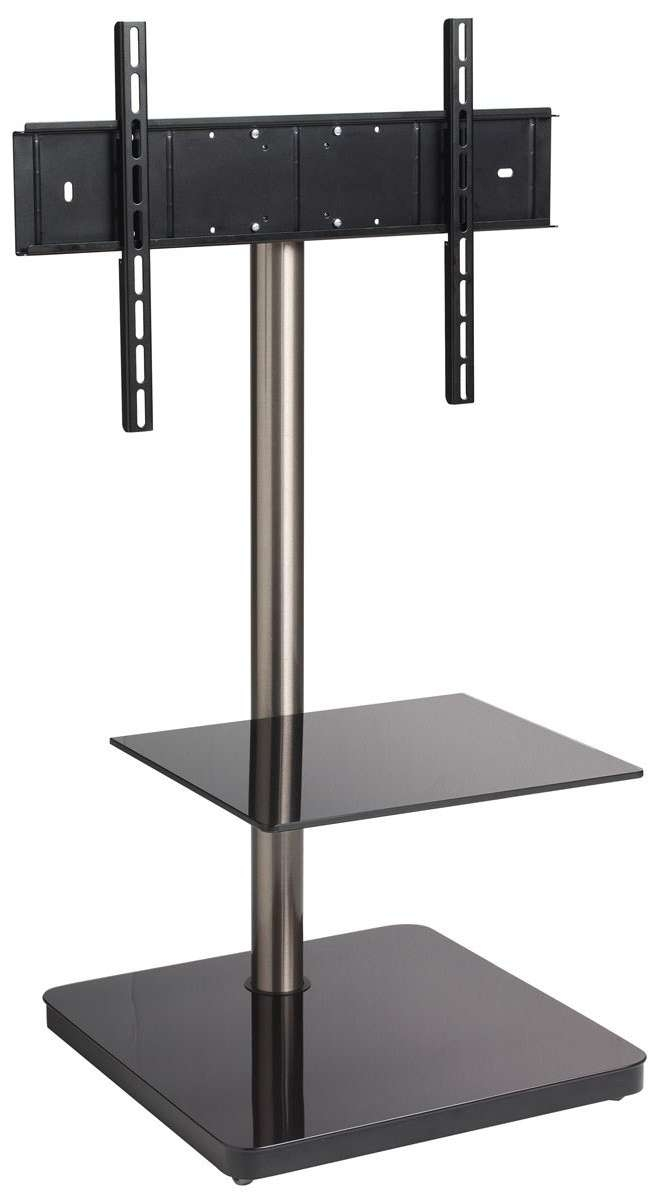 B Tech Btf800 Black Cantilever Tv Stand Regarding White Cantilever Tv Stands (View 13 of 20)
