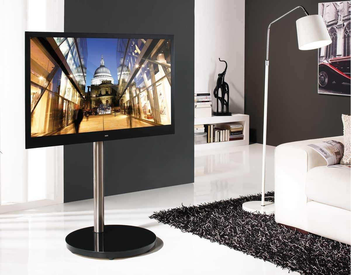 B Tech Btf801 Corner Tv Stand With Round Base In Round Tv Stands (View 8 of 15)