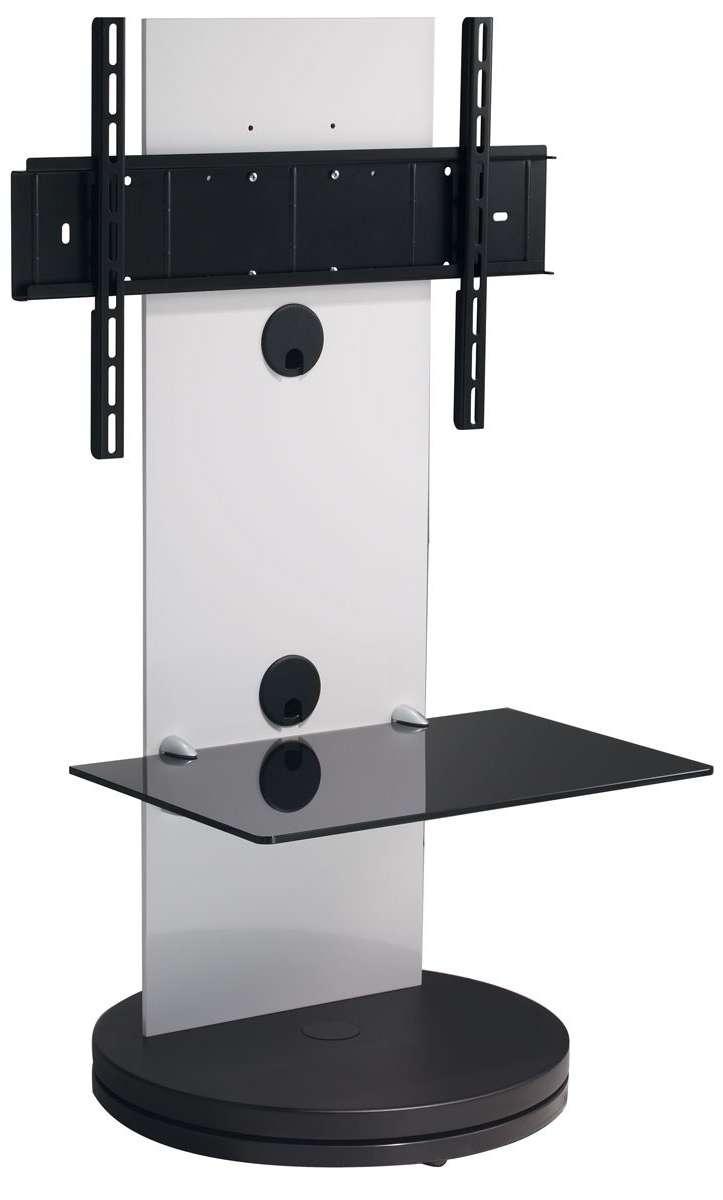 B Tech Btf810 High Gloss White Corner Cantilever Tv Stand Intended For White High Gloss Corner Tv Stands (View 20 of 20)