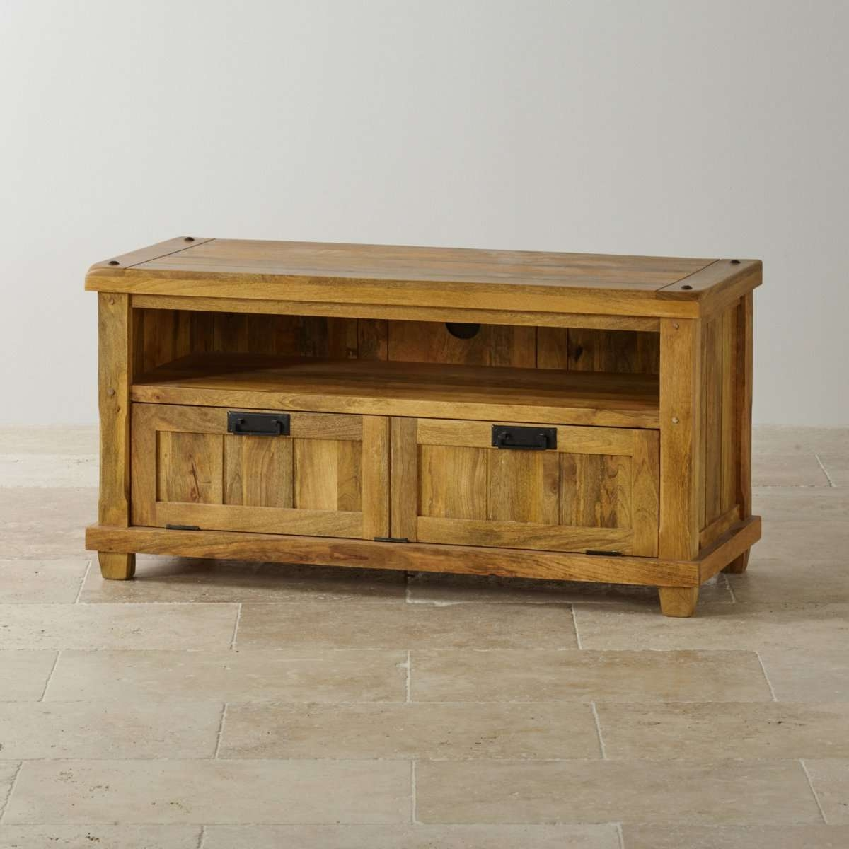 Baku Light Tv Unit In Natural Solid Mango | Oak Furniture Land Pertaining To Mango Wood Tv Cabinets (View 3 of 20)