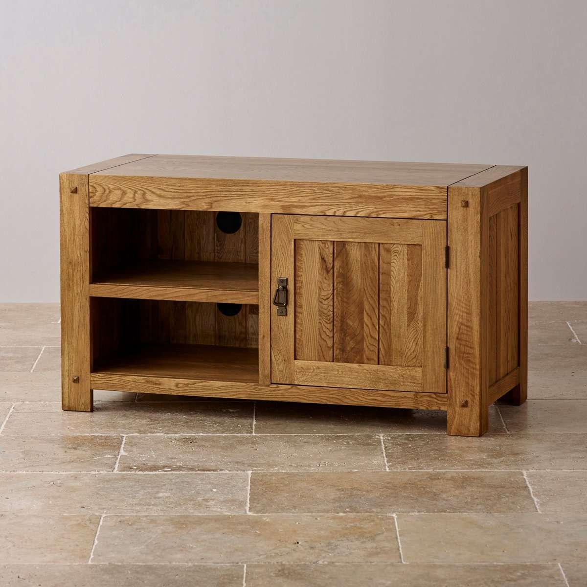 Bare Wood Tv Stand : Innovative Designs Oak Tv Console – Marku With Hard Wood Tv Stands (View 14 of 15)