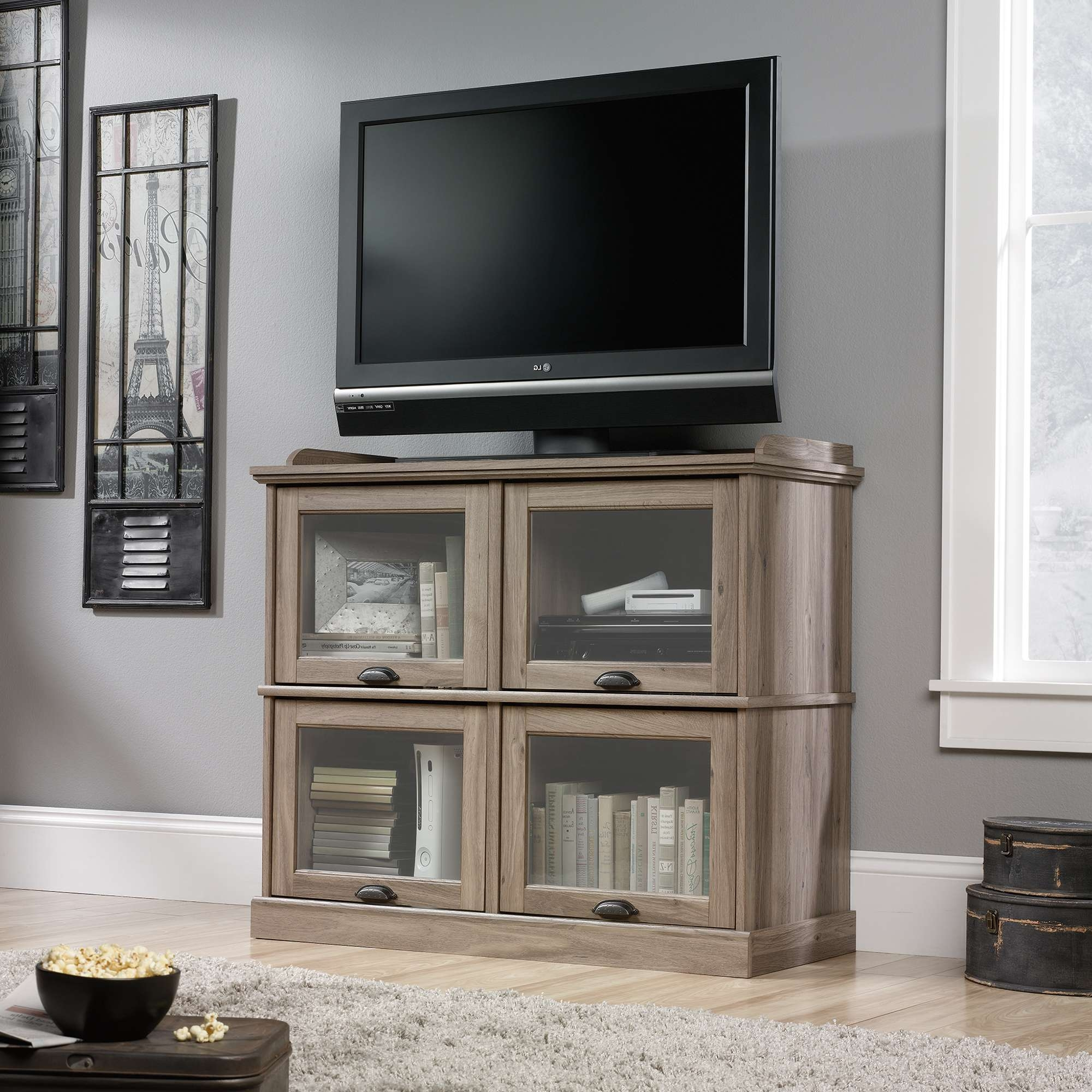 Barrister Lane | Highboy Tv Stand | 414720 | Sauder Inside Highboy Tv Stands (View 3 of 15)