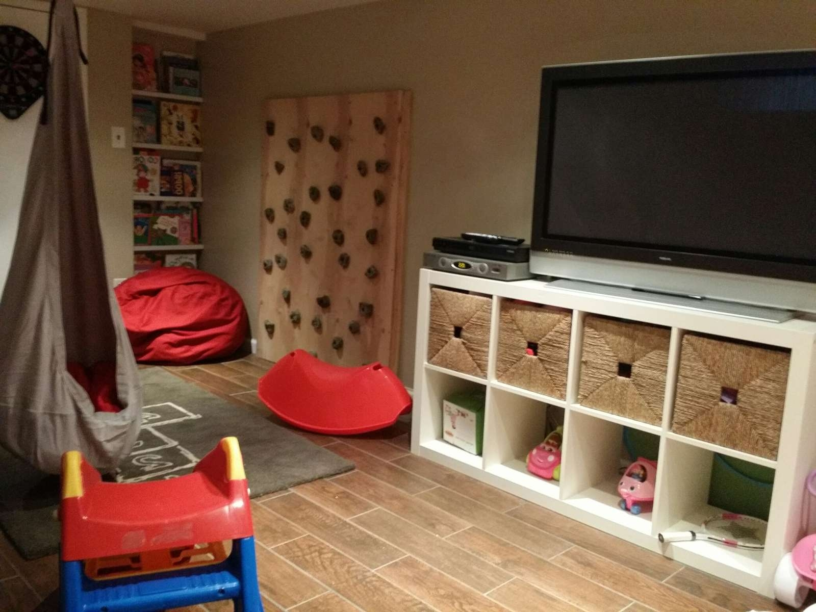 Basement Playroom – Simple Bliss Regarding Playroom Tv Stands (View 1 of 15)