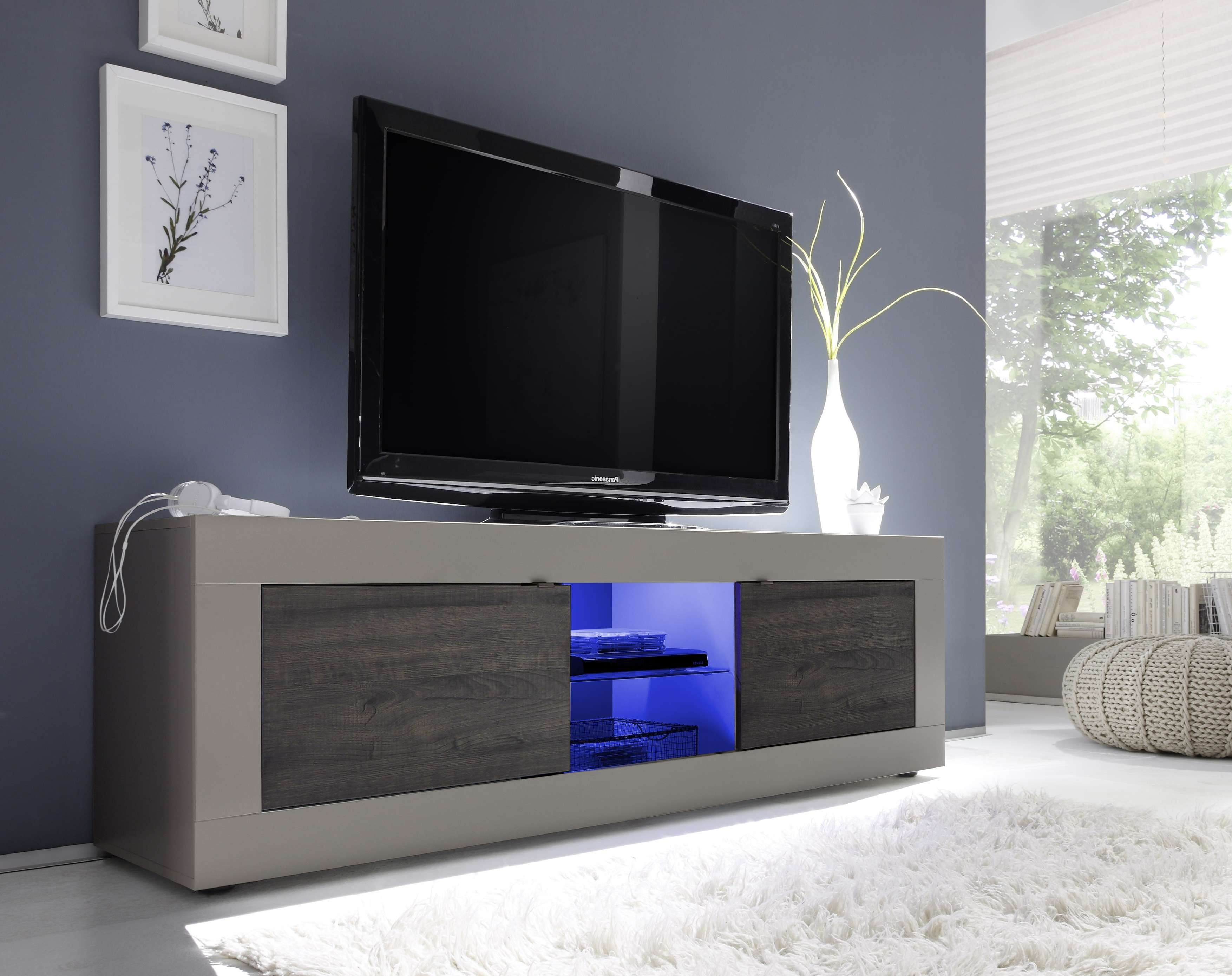 Basic Big Tv Stand, Beige + Wenge Buy Online At Best Price – Sohomod For Wenge Tv Cabinets (View 1 of 20)