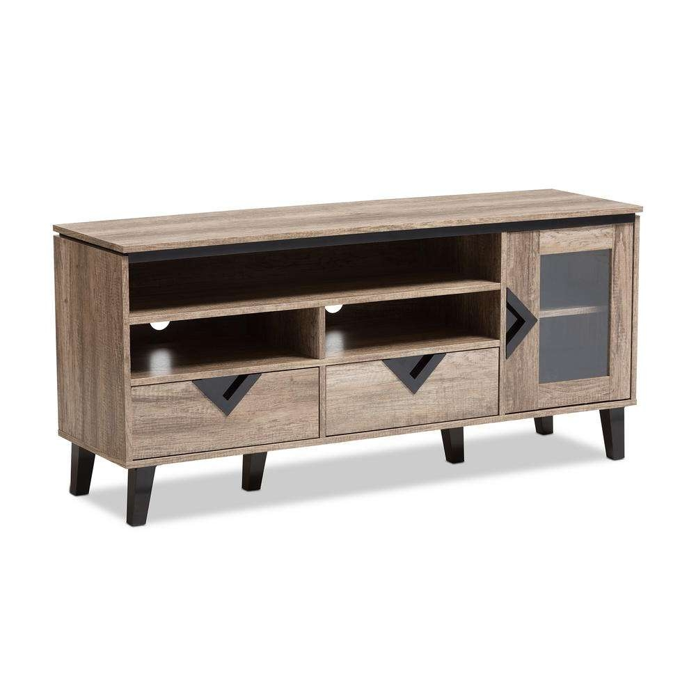 Baxton Studio Cardiff Light Brown Wood Tv Stand 28862 7560 Hd Pertaining To Light Colored Tv Stands (View 2 of 15)
