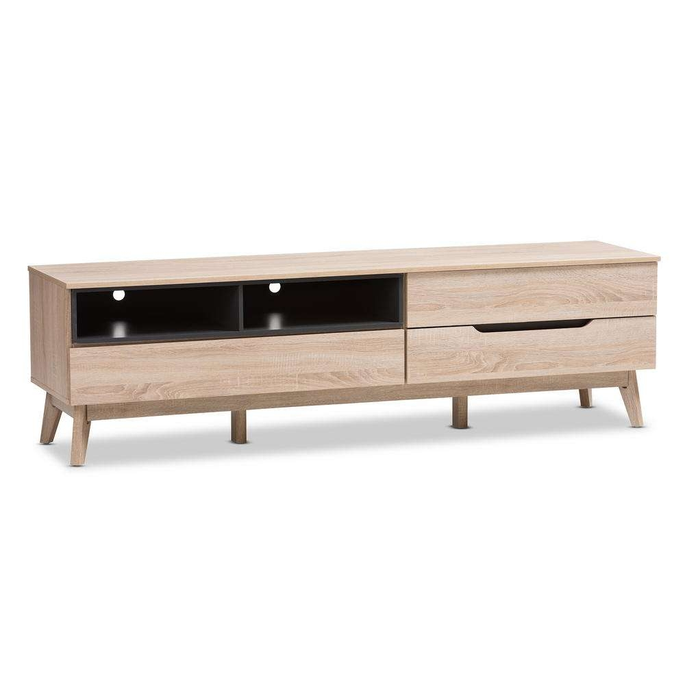 Baxton Studio Fella Light Brown Wood Tv Stand 28862 7706 Hd – The In Wooden Tv Stands (View 1 of 15)