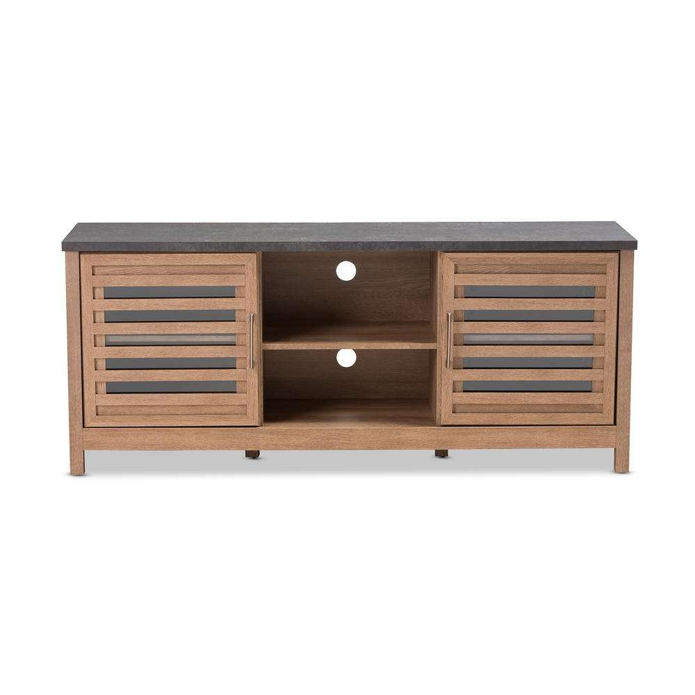 Baxton Studio Pacific Light Brown Tv Stand 28862 8017 Hd – The Regarding Brown Tv Stands (View 4 of 20)