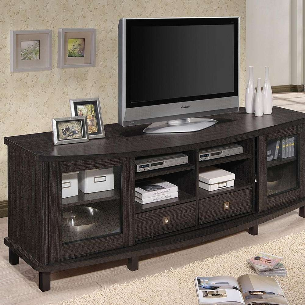 Baxton Studio Walda Dark Brown Wood Entertainment Center 28862 Within Dark Tv Stands (View 3 of 15)
