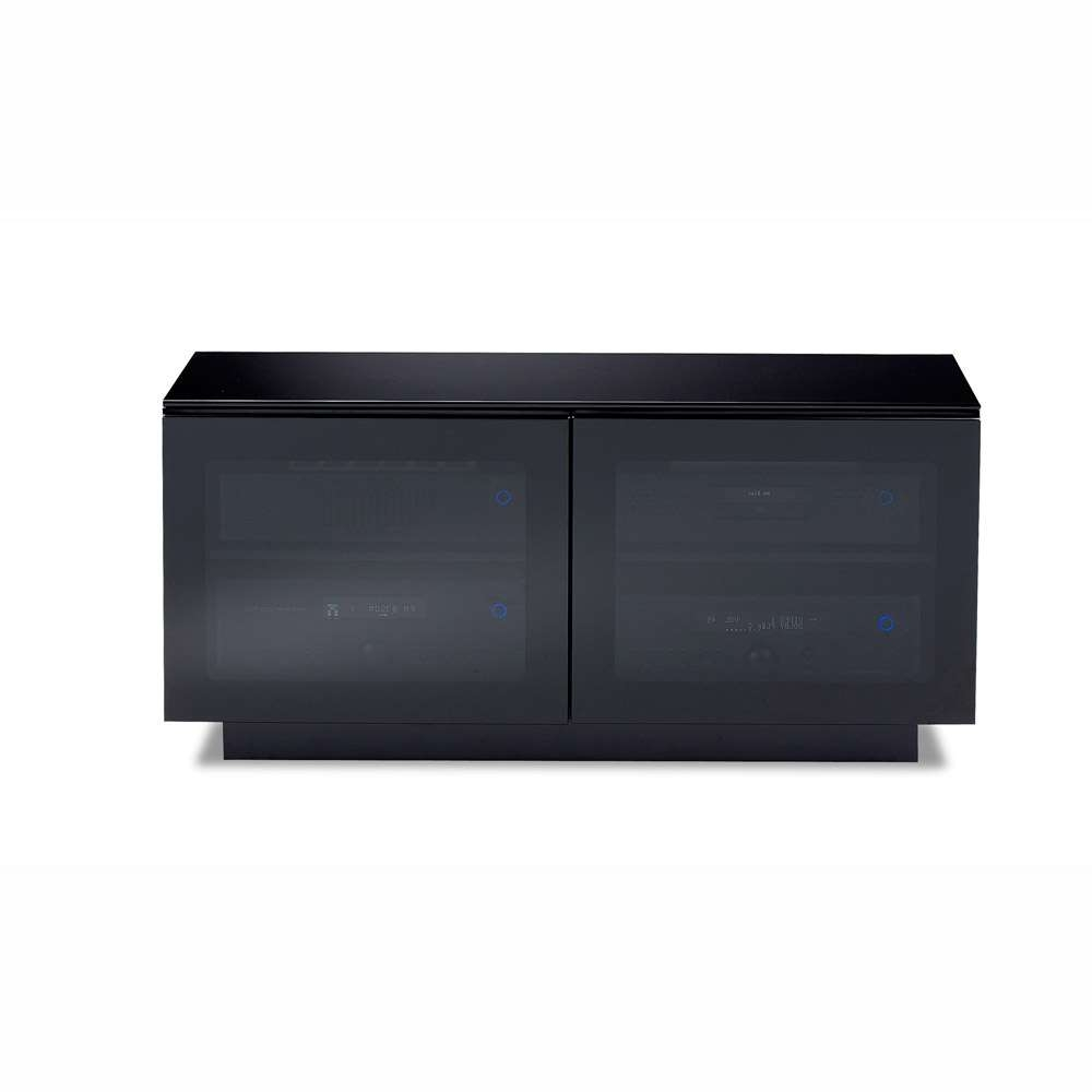 Bdi Mirage 8224 Black Small Tv Cabinet – Bdi – Audiovisual Online Within Small Black Tv Cabinets (View 1 of 20)