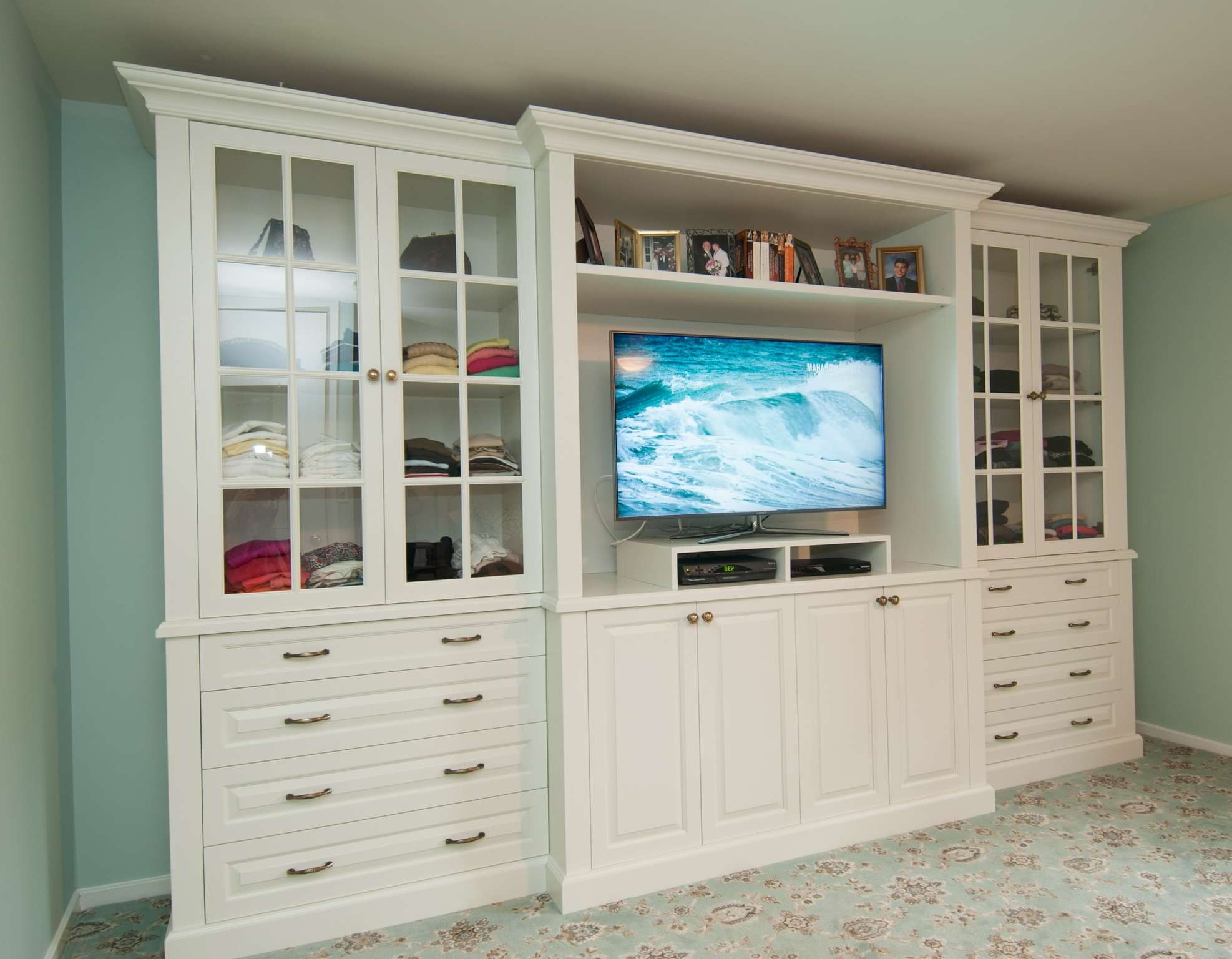 Bedroom Tv Stand Dresser Tv And Display Shelves Combination Throughout Dresser And Tv Stands Combination (View 2 of 15)