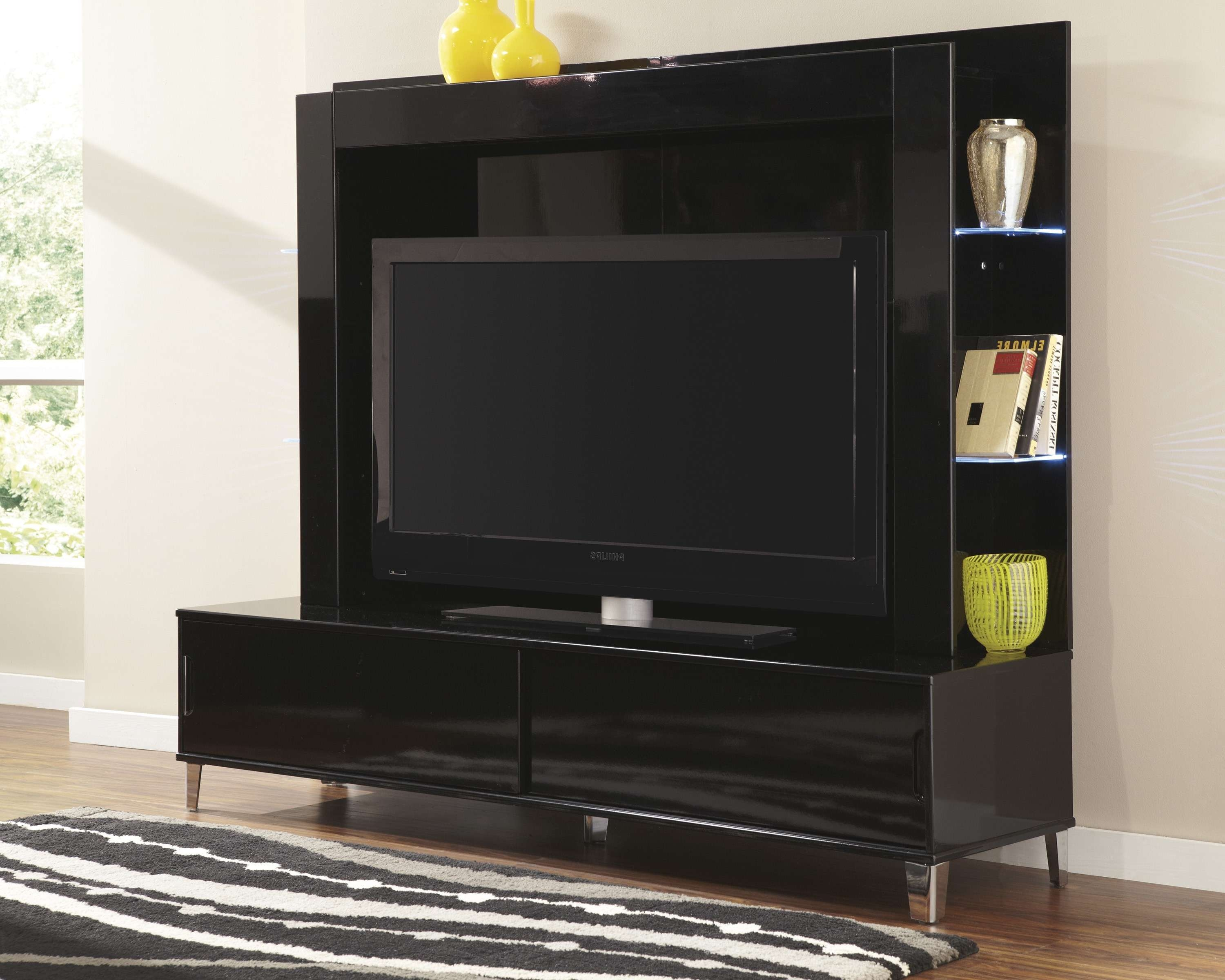 Bedrooms : Fascinating Flat Screen Tv Mount Stand Cream Wall Pertaining To Black Wood Corner Tv Stands (View 3 of 15)