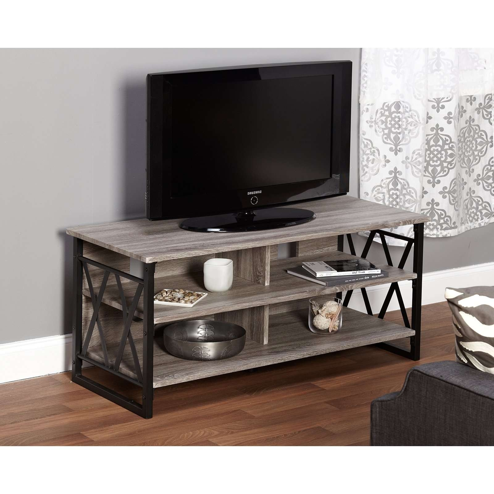 Belham Living Edison Reclaimed Wood Tv Stand   Hayneedle With Reclaimed Wood And Metal Tv Stands (View 11 of 15)