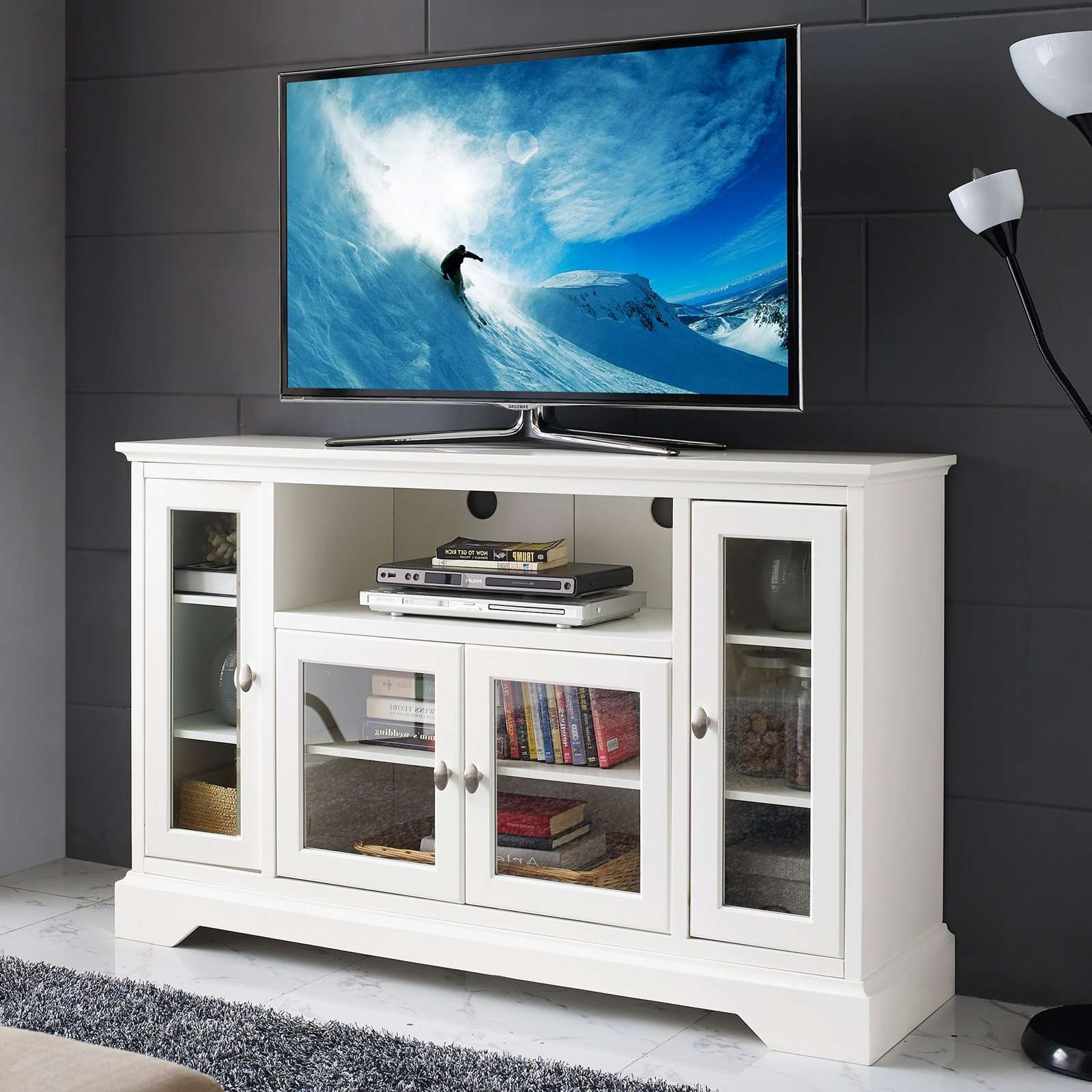 Belham Living Hampton Tv Stand – White | Hayneedle With Tv Stands White (View 5 of 20)