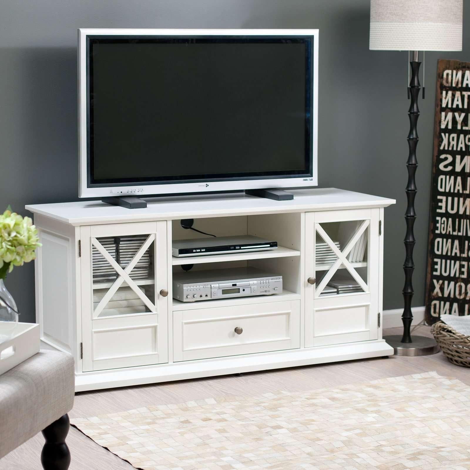 Belham Living Hampton Tv Stand – White – Walmart For Tv Stands White (View 4 of 20)