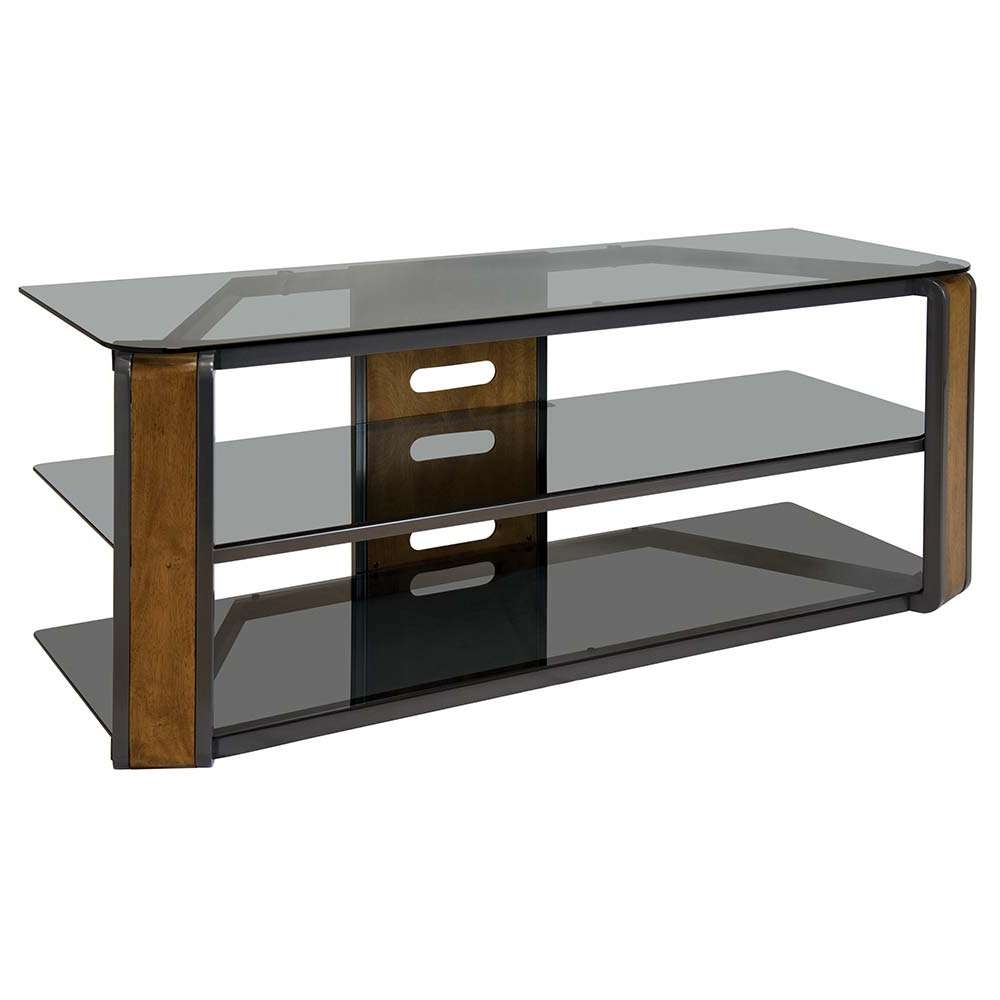 """Bello Avsc2131 55"""" Contemporary Flat Panel Glass Tv Stand In Pertaining To Wood Tv Stands With Glass (View 4 of 15)"""