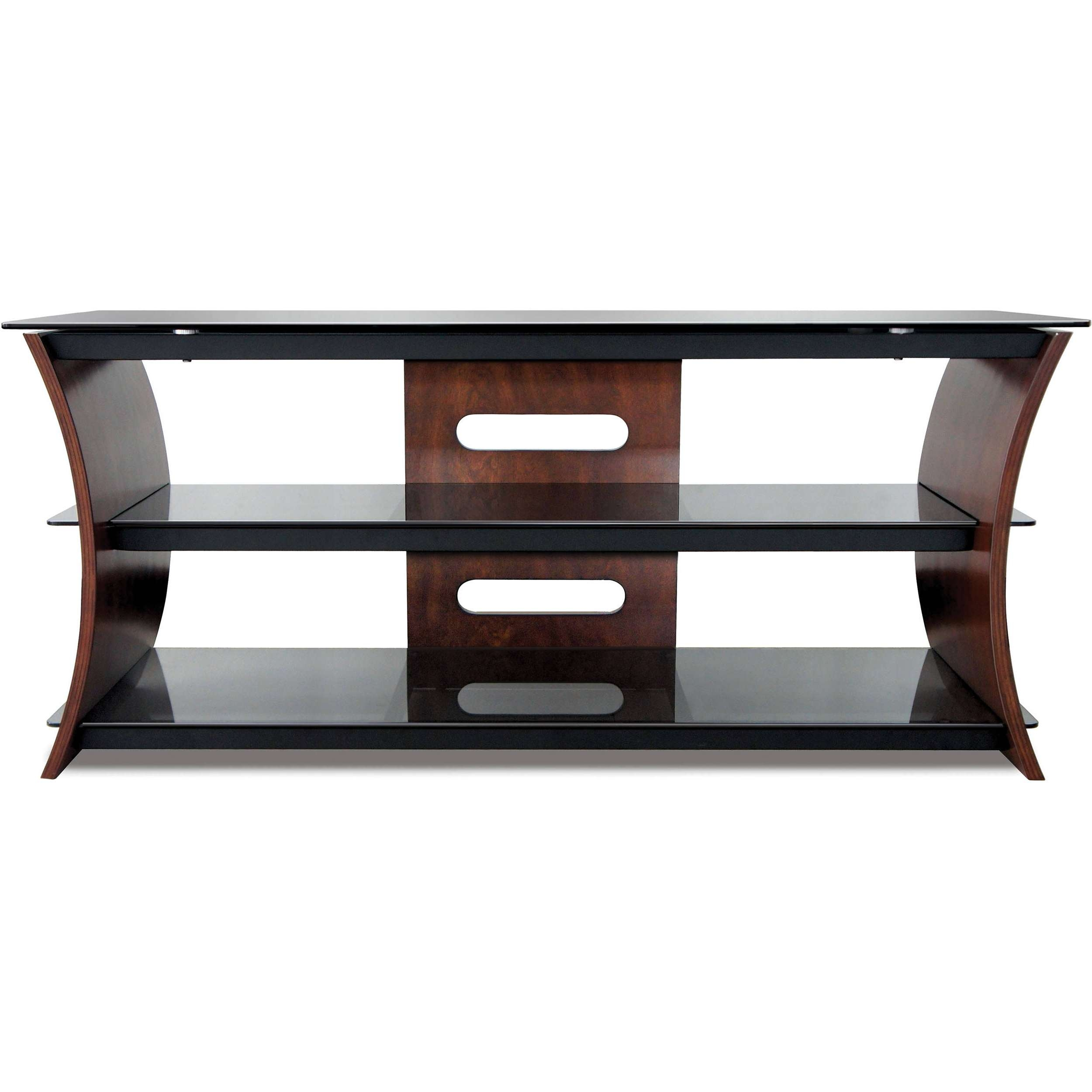 Bell'o Cw356 Curved Wood Tv Stand Cw356 B&h Photo Video Intended For Wood Tv Stands (View 7 of 15)