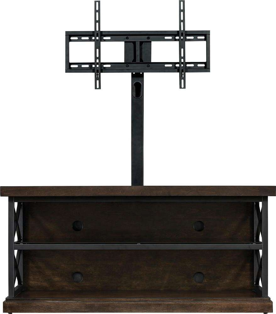 "Bello – Triple Play Tv Stand For Most Tvs Up To 55"" – Brown – Aaa In Bell'o Triple Play Tv Stands (View 7 of 15)"