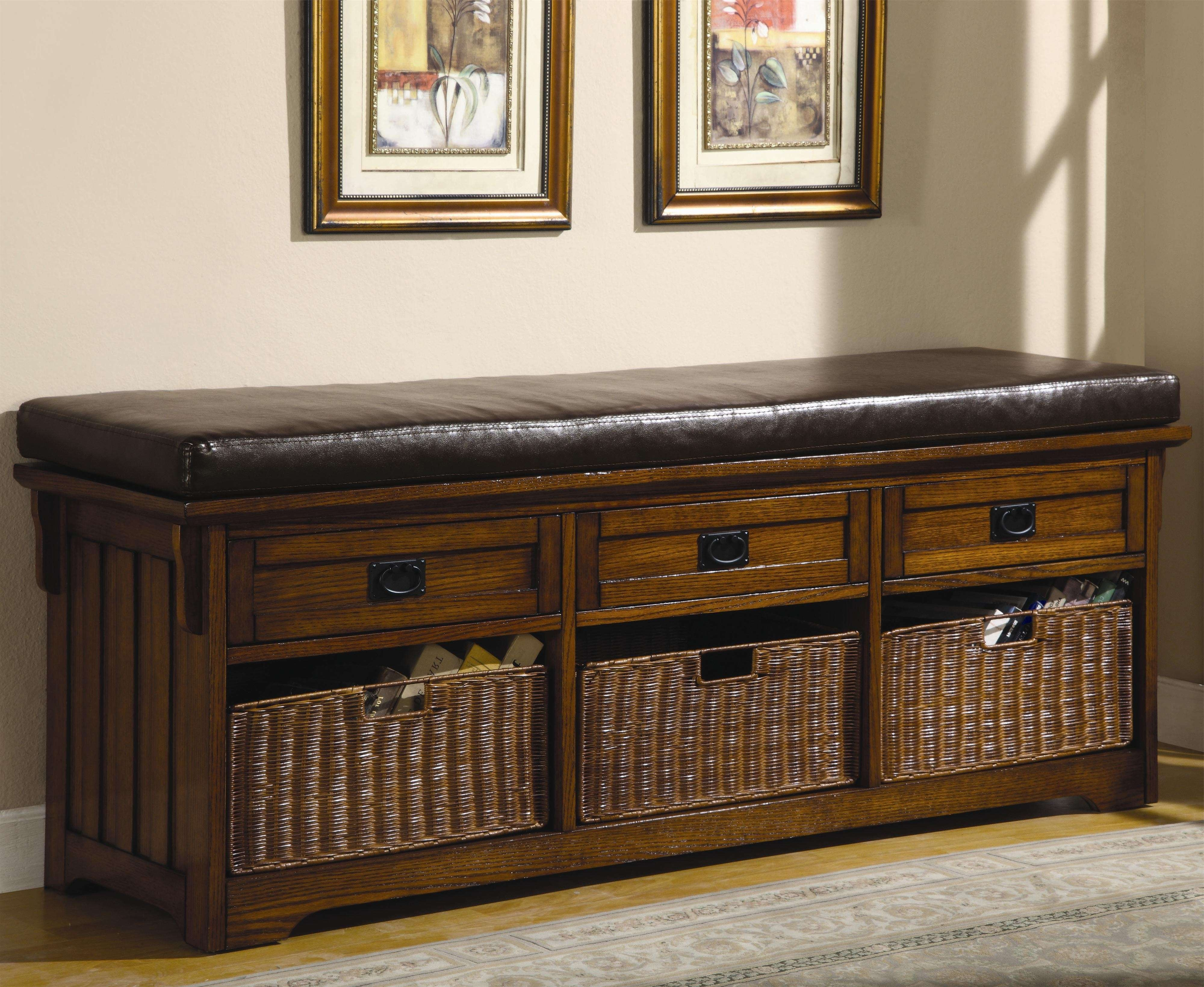 Benches Large Storage Bench With Baskets Lowest Price – Sofa Pertaining To Tv Stands With Storage Baskets (View 2 of 15)