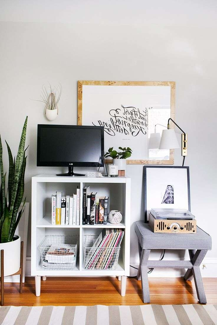 Best 25+ Bedroom Tv Stand Ideas On Pinterest | Apartment Bedroom With Regard To Bookshelf And Tv Stands (View 1 of 15)