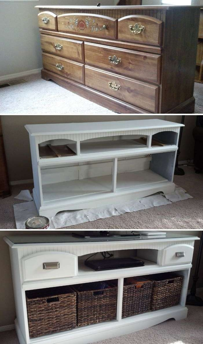 Best 25+ Dresser Tv Ideas On Pinterest | Tv Stand Drawers, Tv For Rustic Looking Tv Stands (View 2 of 15)