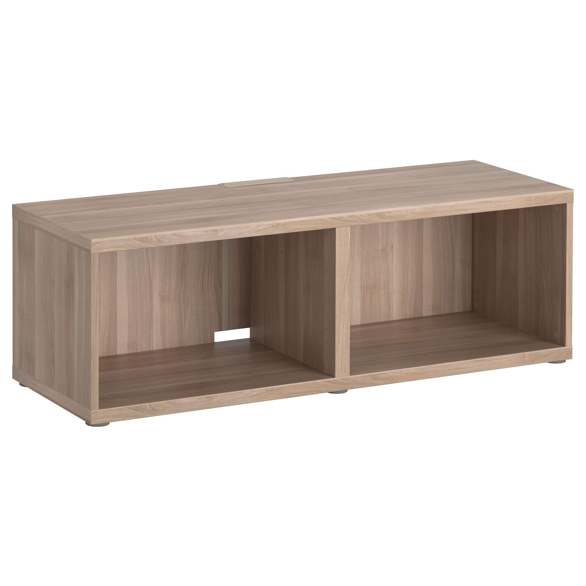 Bestå Tv Bench – Walnut Effect Light Gray – Ikea In Small Tv Cabinets (View 7 of 20)